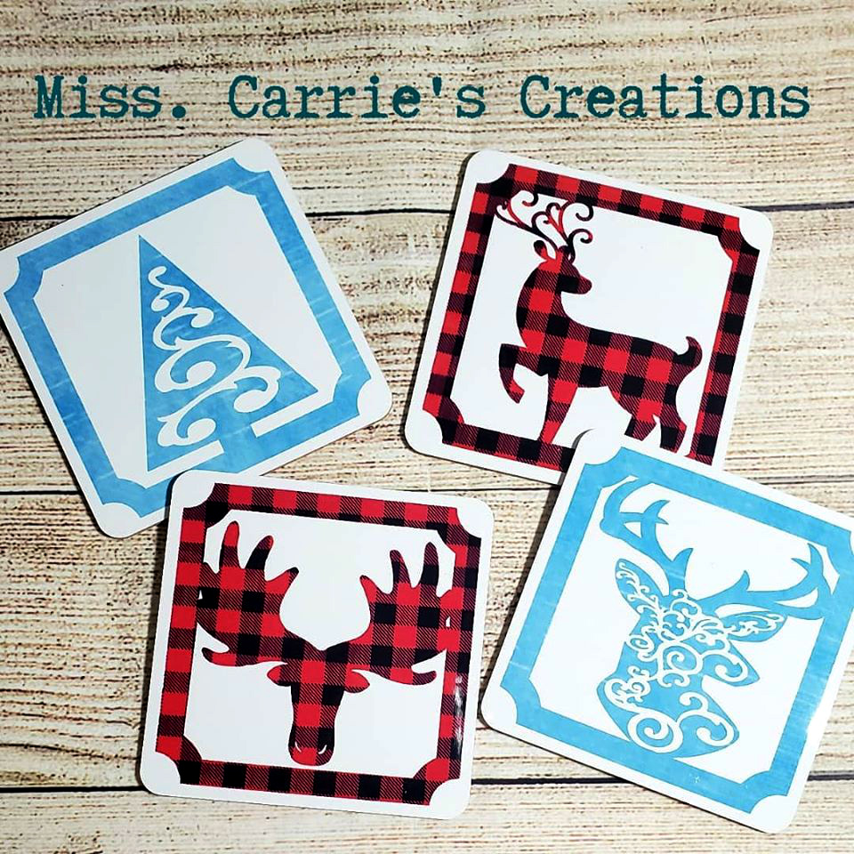 MissCarriesCreations-ChristmasCoasters